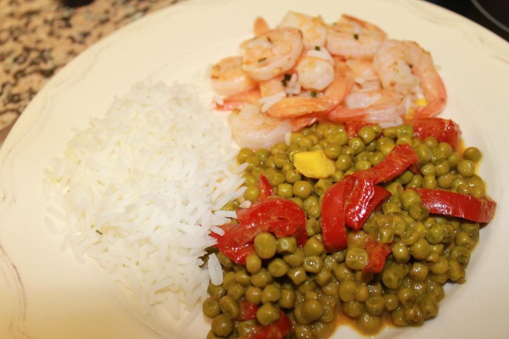 Petits pois au curry et Poêlée de crevettes dans Viandes, légumes ou Poissons, de quoi en faire un plat img_6369
